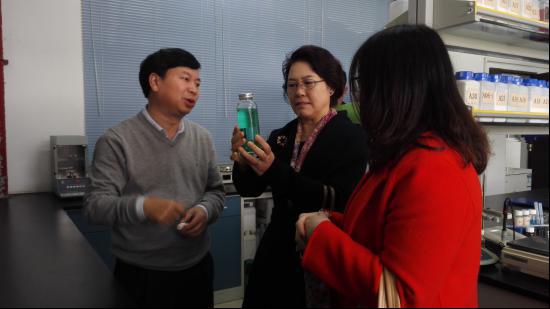 青岛海大生物集团有限公司梁云波副总一行来访东莞一翔